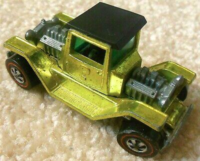 Vintage 1970s Mattel Redline Hot Wheels - T-4-2 - Yellow Spectraflame