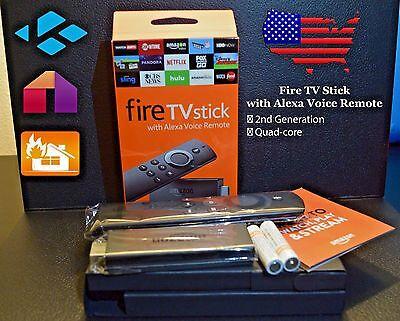 AMAZON FIRE STICK W/ ALEXA VOICE REMOTE - 2ND GEN, QUAD CORE, KODI 17.3 & MORE!
