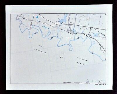 Texas Map - Hidalgo County - La Joya Los Ebanos - Rio Grande River Mexico Border