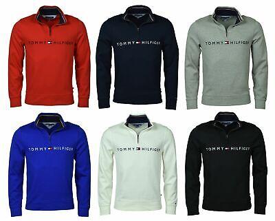 Tommy Hilfiger Men's Logo French Rib Quarter-Zip -