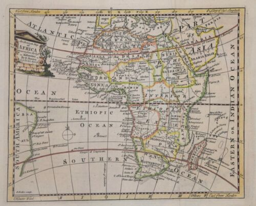 AN ACCURATE MAP OF AFRICA BY EMANUEL BOWEN, CIRCA 1750
