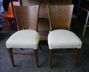 Timber Cream Vinyl Seat Cafe Restaurant Dining Chairs 50 Avail Melbourne CBD Melbourne City Preview