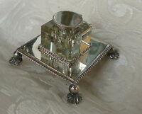Calamaio Sheffield Electroplate E Cristallo J. Dixon & S. 1890 Ca. Epbm Inkwell -  - ebay.it