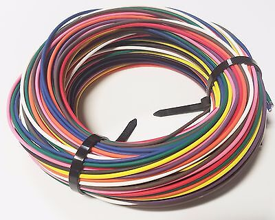 AUTOMOTIVE WIRE - 16 GAUGE GA HIGH TEMP TXL WIRE 11 COLORS - 25' EA U.S.A