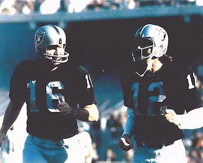 (GEORGE BLANDA & KEN STABLER 8X10 PHOTO OAKLAND RAIDERS PICTURE NFL FOOTBALL)