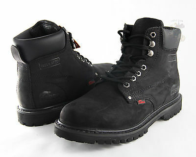 Men Work Boot Cobra Steel Toe C11S Black Leather Goodyear Welt Construction New Black Steel Toe Work Boot