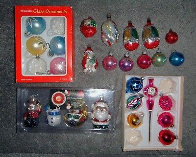 22 Gass  + 4 Plastic  Christmas Tree Decorations