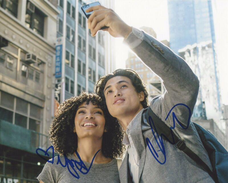 Charles Melton Yara Shahidi Signed 8x10 Photo The Sun Is Also A Star +PROOF #3