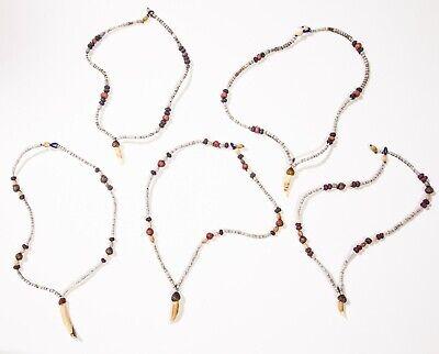 Group of qty 5 Asmat necklaces West Papua