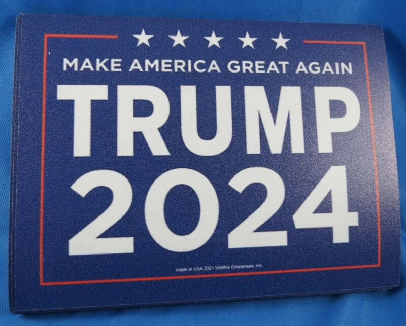 WHOLESALE LOT OF 9 MAKE AMERICA GREAT AGAIN TRUMP 2024 MAGNET Save First GOP USA