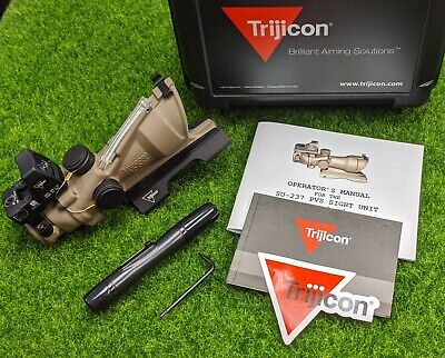 Trijicon 4x32 ACOG TA31-D, Dual Illuminated Green 5.56 Reticle, RMR - 100554