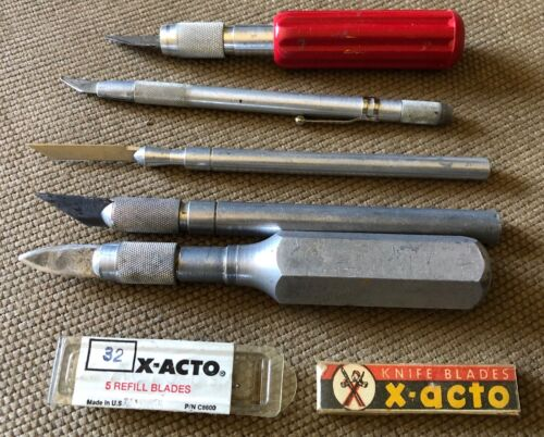 Vintage X-Acto Hobby Knives and 1 Griffon - USA