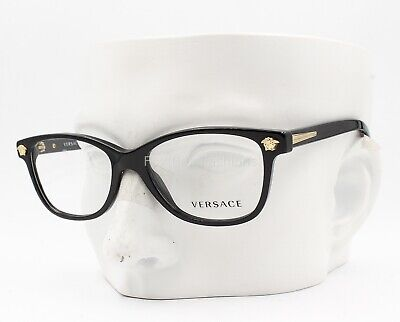 Versace MOD 3153 945 Eyeglasses Optical Frames Glasses Black / Gold 51-16-135