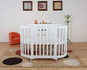 BRAND NEW The Baby Palace Modern 5 in 1 round Baby Cot / Bassinet Brisbane City Brisbane North West Preview