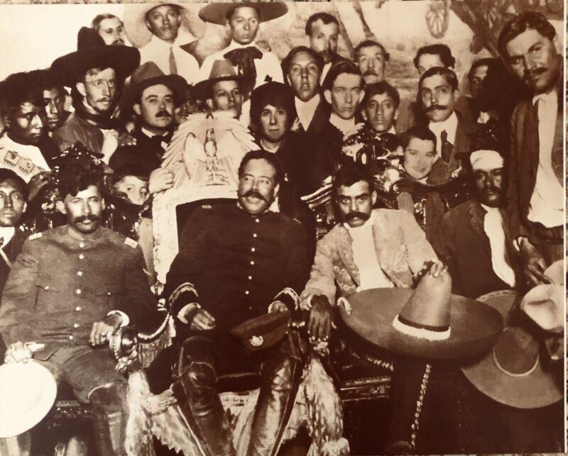 Mexican Revolution Generals Pancho Villa, Zapata on Presidential Chari 16x20