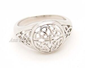 Women Girl Silver Celtic Knot Hollow Stainless Steel Ring Us Size 6 7 - Women girl silver celtic knot hollow stainless steel ring us size 6 7