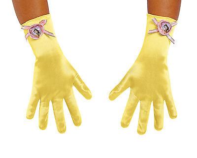 Girls Princess Belle Gloves Disney Disguise 21194 (Princess Gloves)