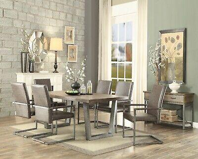 Acme Furniture Lazarus 7 Piece Dining Room Set Acme Furniture Set Chair