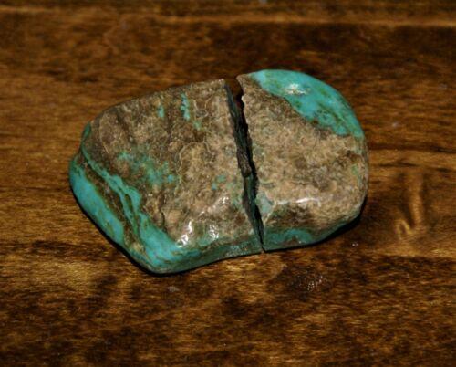 Royston Turquoise Rough Nevada Old Stock Tumbled Stone  43.6 Grams TS38 22