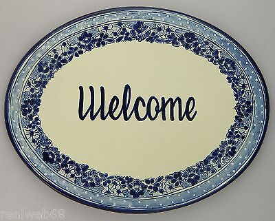Tile Welcome Sign (WELCOME Mexican  Plaque Tile Custom Address Sign 16x12½