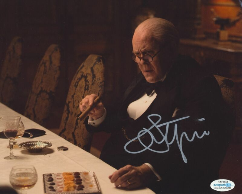 JOHN LITHGOW SIGNED THE CROWN 8X10 PHOTO ACOA