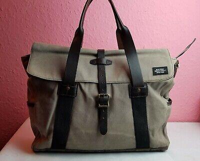 JACK SPADE DESIGNER RARE Grey Mens/Unisex Canvas Leather Weekend/Work  Bag