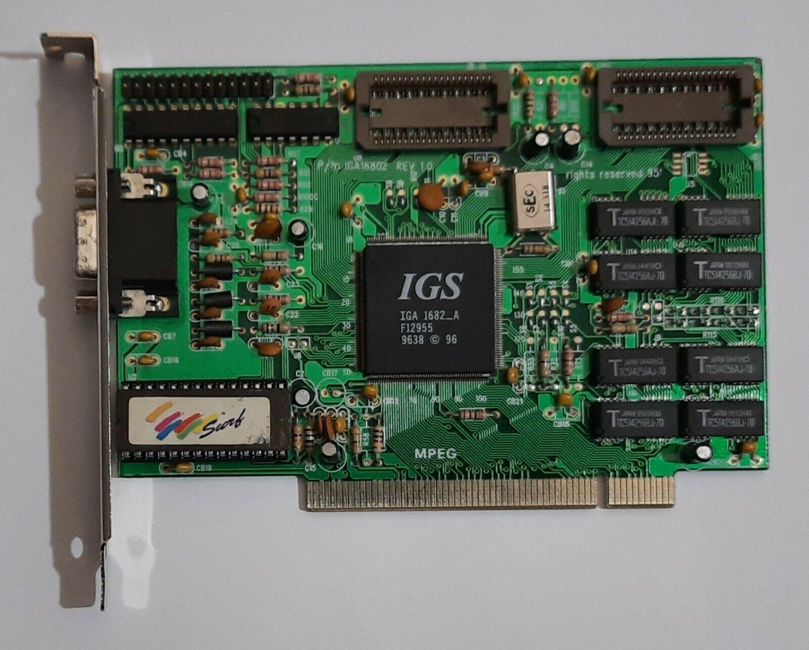 Surf Multimedia (?) IGA16802 PCI Grafikkarte (IGS IGA 1682_A, 1MB, 1996)