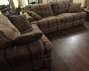Sklar  Peppler Couch & Chair and a half Set