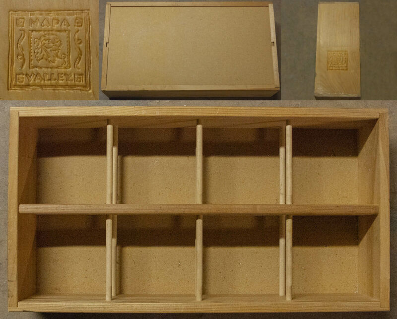 (1) Vintage Napa Valley Wood 96 CD Holder Storage Display Rack Crate Box Shelf