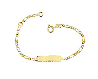 Baby Kinder ID Armband 585 Gold Gelbgold 14cm Gravur Etui u. Versand 5.53063