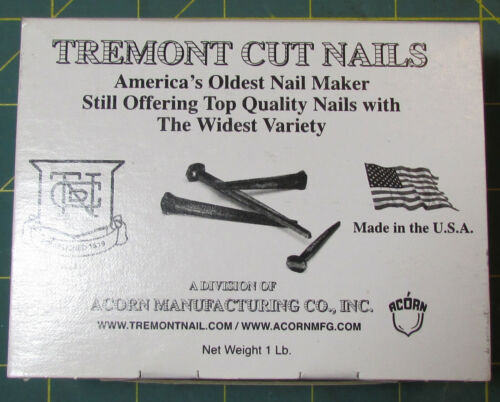 "1lb box of 3"" Tremont Nails Decorative Wrought Head Black Oxide Finish"