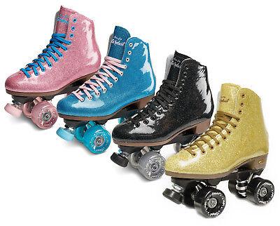 Sure-Grip Stardust Vinyl Glitter Boot Roller Skates BLACK BLUE PINK GOLD SZ 3-11 ()