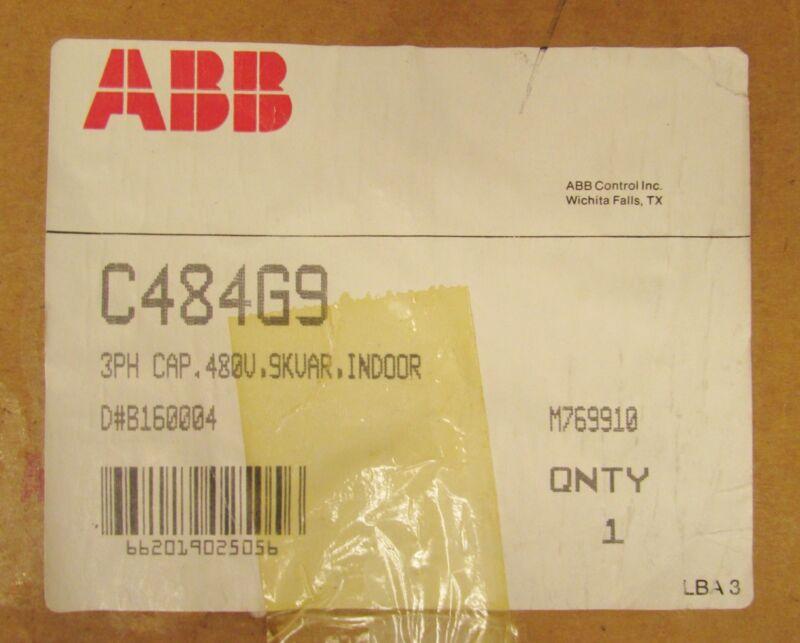 ABB 3 Phase Indoor LVNQ Capacitor 480V 9 KVAR C484G9