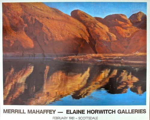 Merrill Mahaffey Poster for Elaine Horwitch Galleries Show February 1981