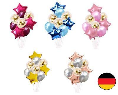 40 Geburtstag Ballons (Stern Set Folienballon Luftballons Geburtstag Deko Hochzeit 40cm Neu Rose Gold)