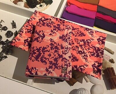 Pack of 3 FLORA Fabric BOOK COVERS Stretchable Reusable 9 x 11 Jumbo Made in USA for sale  Covina
