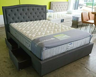 SLEEPMAKER COMMERCIAL - NEW MODELS ON DISPLAY - BED FRAMES TOO!!!
