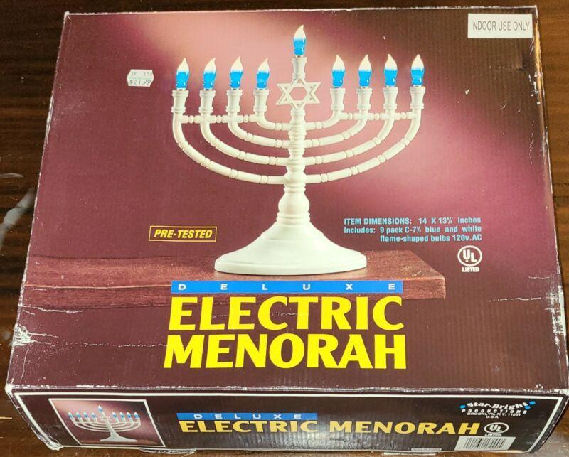 Deluxe Electric Chanukah Menorah New In Box