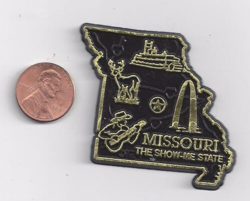 """MISSOURI  """"THE SHOW ME STATE""""   OUTLINE MAP MAGNET , NEW"""