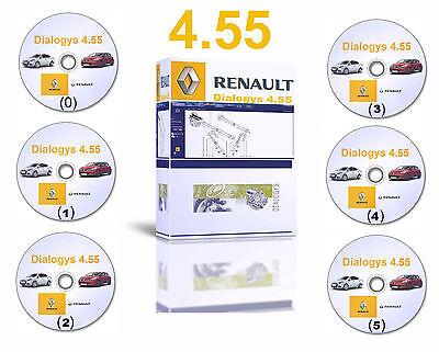 2016 Dialogys 4.55 Workshop Repair Manuals Parts Catalogue for Renault 6 DVDs