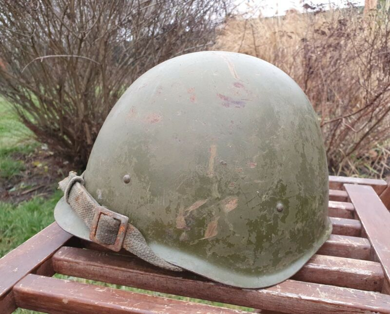 Original Military Helmet SSH 40 Steel WW2 Soviet Army RKKA WWII Russian N 1/716