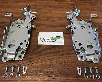 Set Door Latch Assemblies 69 Camaro Firebird LH + RH Nova 69-70 Chevy II latches - Firebird Door Latch