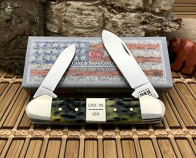 Case XX USA Exquisite 2020 Peachseed OLIVE Bone CA21514 XX ERA Canoe Knife