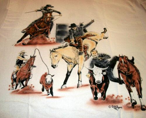 "American Sport Horse T-shirt  "" White "" LG ( 42 ~ 44 )"