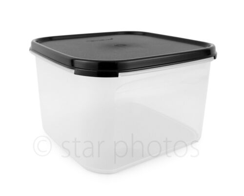 Tupperware Modular Mates 11 Cup Square #2 Container with Black Seal - New!