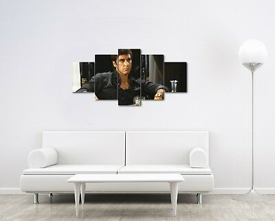Large 5 Piece Scarface Al Pacino Photo On Canvas Home Decor Art Wall