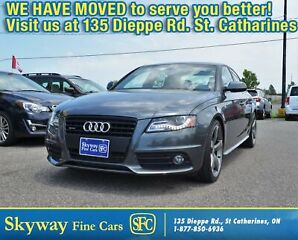 2011 Audi A4 2.0 LT  S-LINE  1-OWNER|AWD|SUNROOF|LEATHER