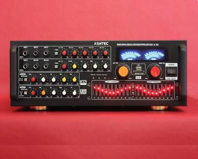 1200W Bluetooth Powered Mixer Amplifier 10 Channel Guitar Karaoke