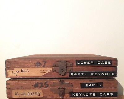 Kingsley Machine Type Set Keynote 24pt Caps Lowercase Extras