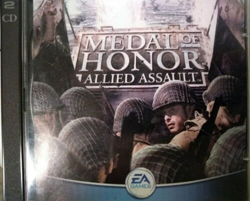 Computer Games - Medal Of Honor Allied Assault 2002 WWII Computer Game PC CD  EA GAMES! SWEET!